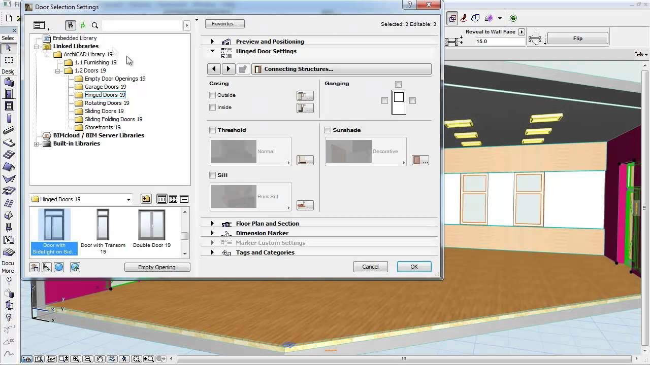 ARCHICAD Scheduling - Finishes of Openings Surface Template