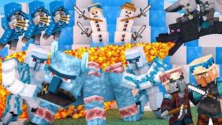 Villager vs Pillager Life Winter War: FULL ANIMATION  Minecraft Animation