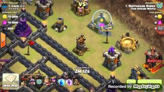 Clash of clans - town hall 9 war attacking