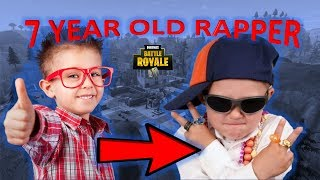 Adorable 7 Year Old RAPPER sings about MONEY AND FORTNITE: Battle Royale