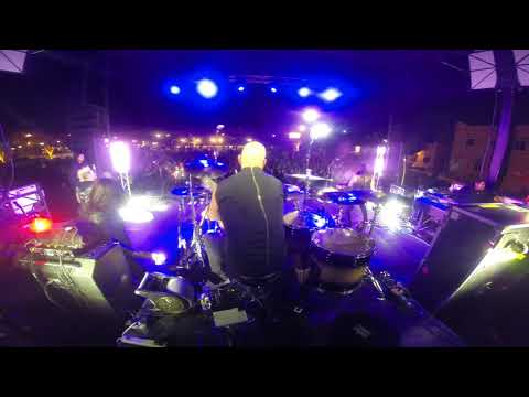 "Fozzy - Frank Fontsere' drum cam. ""Bad Tattoo"" live in El Paso"