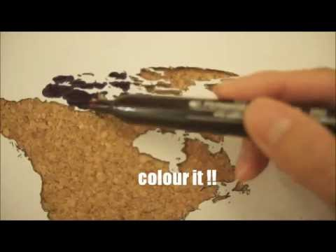 Diy your cork board map youtube diy your cork board map gumiabroncs Gallery