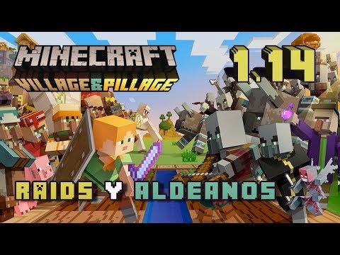 Minecraft 1.14 – Village & Pillage Update – Raids y aldeanos