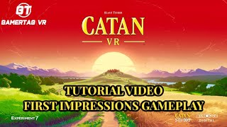 Catan VR Tutorial & First Impressions Gameplay (I LOST😢)