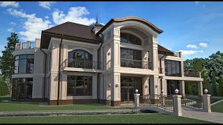 варианты решения дизайна фасада индивидуального жилого дома