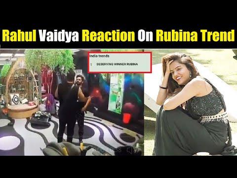 Rahul Vaidya Reaction On Deserving Winner Rubina Trend  Rahul Vaidya Reaction On Rubina Trend  BB14