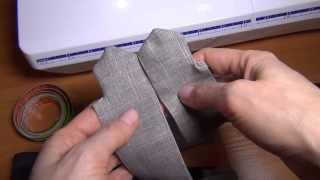 Как шить брюки: простой пояс(В этом показан очень простой вариант пошива комбинированного пояса для брюк или шортов. Пошив брюк или..., 2013-10-11T14:36:08.000Z)