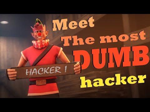 TF2 Fun - Meet the DUMBEST Hacker Ever! [ Delfy vs HACKER ]