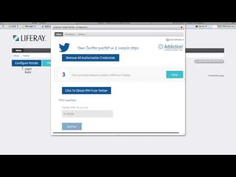 Liferay Twitter Portlet Configuration
