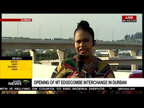 Opening Of Mt Edgecombe Interchange In Durban