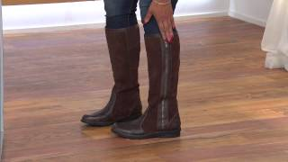 Clarks Bendables Nikki Park Suede & Leather Boots w/ Zip with Leah Williams