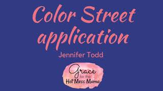 Color Street dry nail polish application