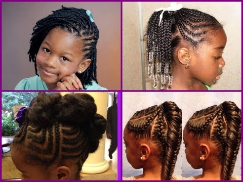 Cute Hairstyles For Black Little Girls - YouTube