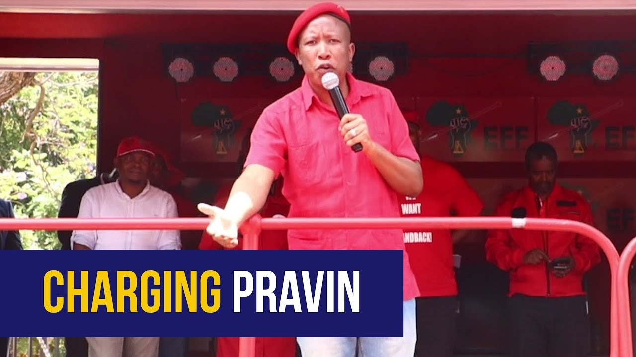 WATCH: Malema lays charges against Pravin Gordhan