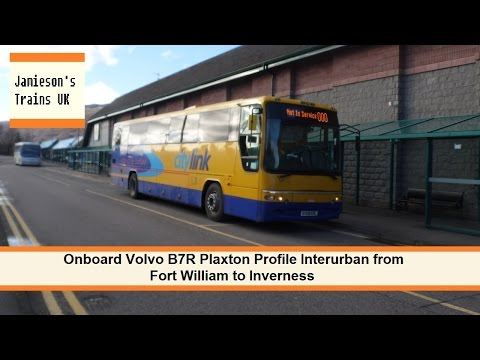Onboard Volvo B7R Plaxton Profile Interurban from Fort William to Inverness
