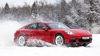 Первый тест Porsche Panamera 2017: разгон до 200 км/ч на снегу