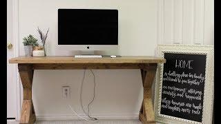 Farm House Desk Tutorial! /// DIY Farm House Desk