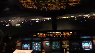 Amazing Dubai Cockpit Takeoff : Overflying the Burj Khalifa in the A333