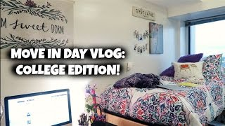 MOVE IN DAY VLOG: COLLEGE EDITION