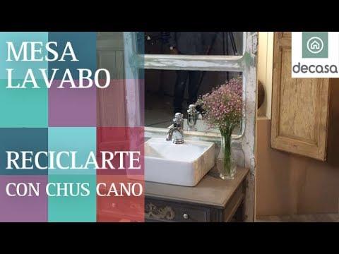 C mo hacer mueble para el ba o por chus cano decora tu hogar con reciclarte t4 youtube - Como hacer mueble para bano ...