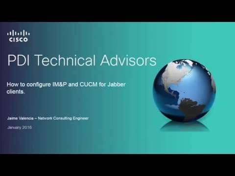 How to configure Jabber for Windows