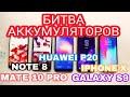 АККУМУЛЯТОР GALAXY S9 vs IPHONE X vs HUAWEI P20?