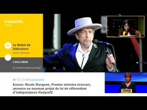 Bob Dylan, prix Nobel de littérature :