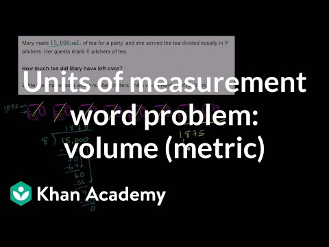 Units of measurement word problem: volume (metric) | 5th grade | Khan Academy
