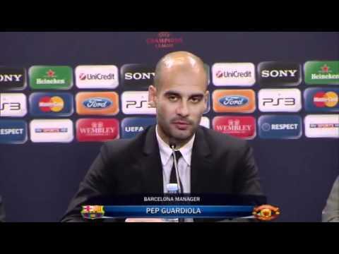 Sir Alex Ferguson and Pep Guardiola Interview - CLFinal 28/5/11