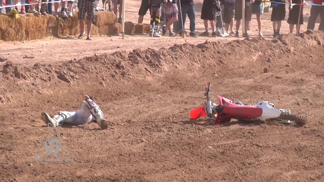 Very Gnarly Dirt bike crash!!! - YouTube