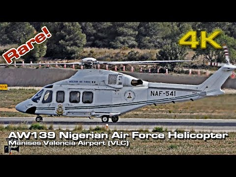 AW139 Nigerian Air Force [4K] Helicopter (VLC) Rare NAF-541