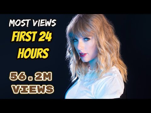 Top 10 Most Viewed Music Videos In First 24 Hours (UPDATED)