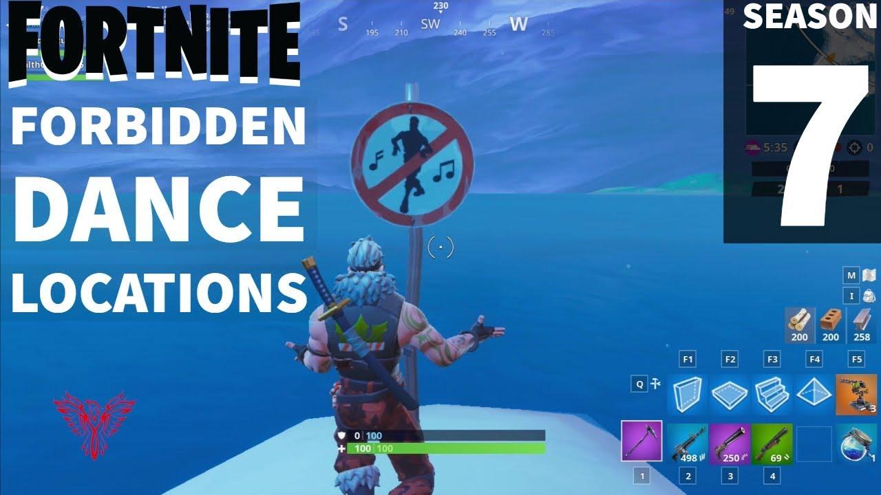 Fortnite Season 7 Where To Dance At Forbidden Locations Battle
