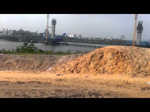 Kigamboni Bridge construction ongoing