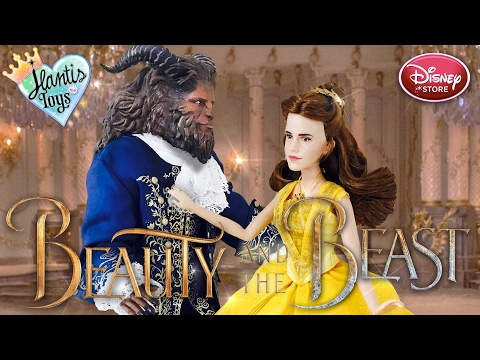 Disney Beauty and The Beast Live Action Belle & Beast Doll Review | Disney Store Film Collection