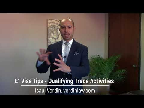 E1 Visa Tips - What are Qualifying Trade Activities?