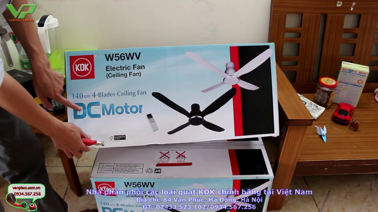 Quạt trần 4 cánh KDK W56WV – Siêu tiết kiệm điện