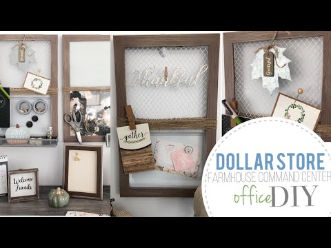 DIY Farmhouse Organization Board | DIY Dollar Tree | DIY 99 Cent Store | Command Center | Dorm Room
