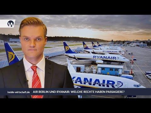 Air Berlin und Ryanair: Welche Rechte haben Passagiere?