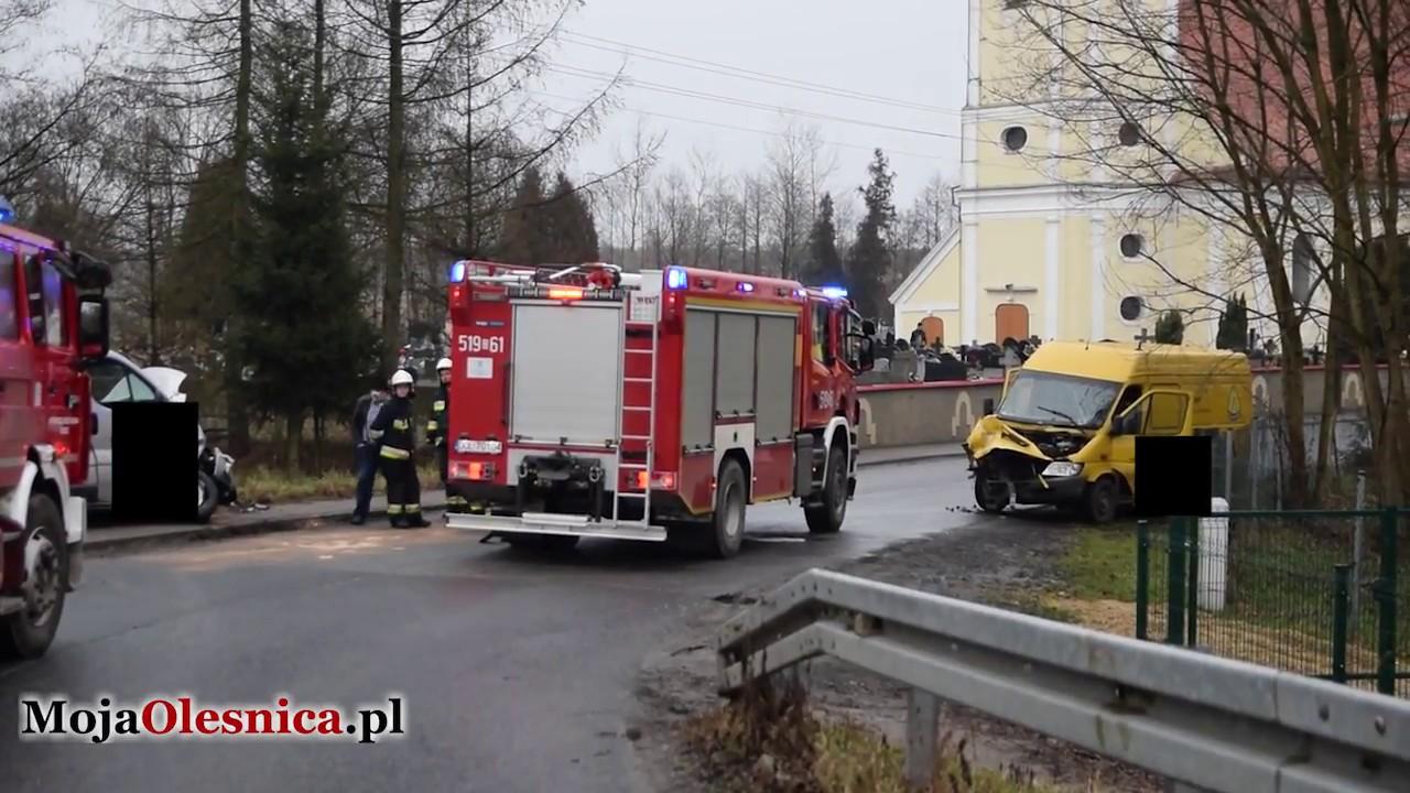 1.02.2018 Goszcz – zderzenie busów