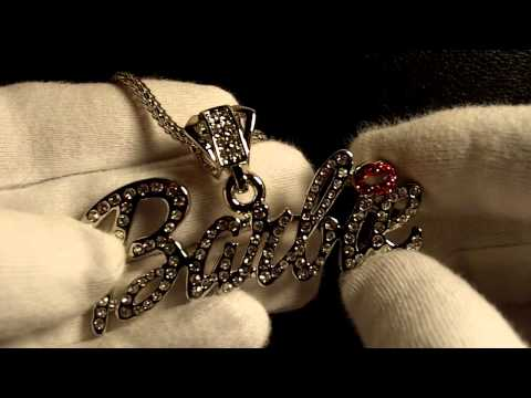 Sim. Diamond Barbie Piece Pendant Chain Nicki Minaj Jewelry Connect Lab