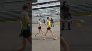 Финиш 20 км на чемпионате России по спортивной ходьбе 20 км