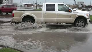 Severe storms cause street flooding in Augusta, KS - 5/24/2019