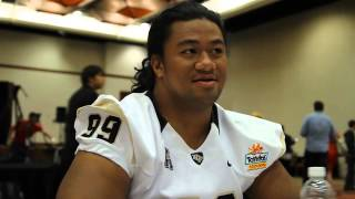 UCF DT #99 Jaryl Mamea 2013 Fiesta Bowl Media Day Interview