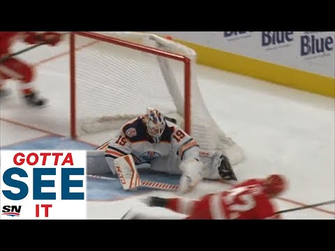 GOTTA SEE IT: Mikko Koskinen Stretches Out And Makes A Fantastic Glove Save