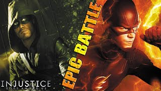 The Flash vs The Arrow | EPIC BATTLE | DC Injustice: Gods Among Us