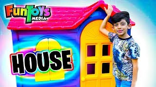 Jason and Brother Pretend Play with Playhouse for kids