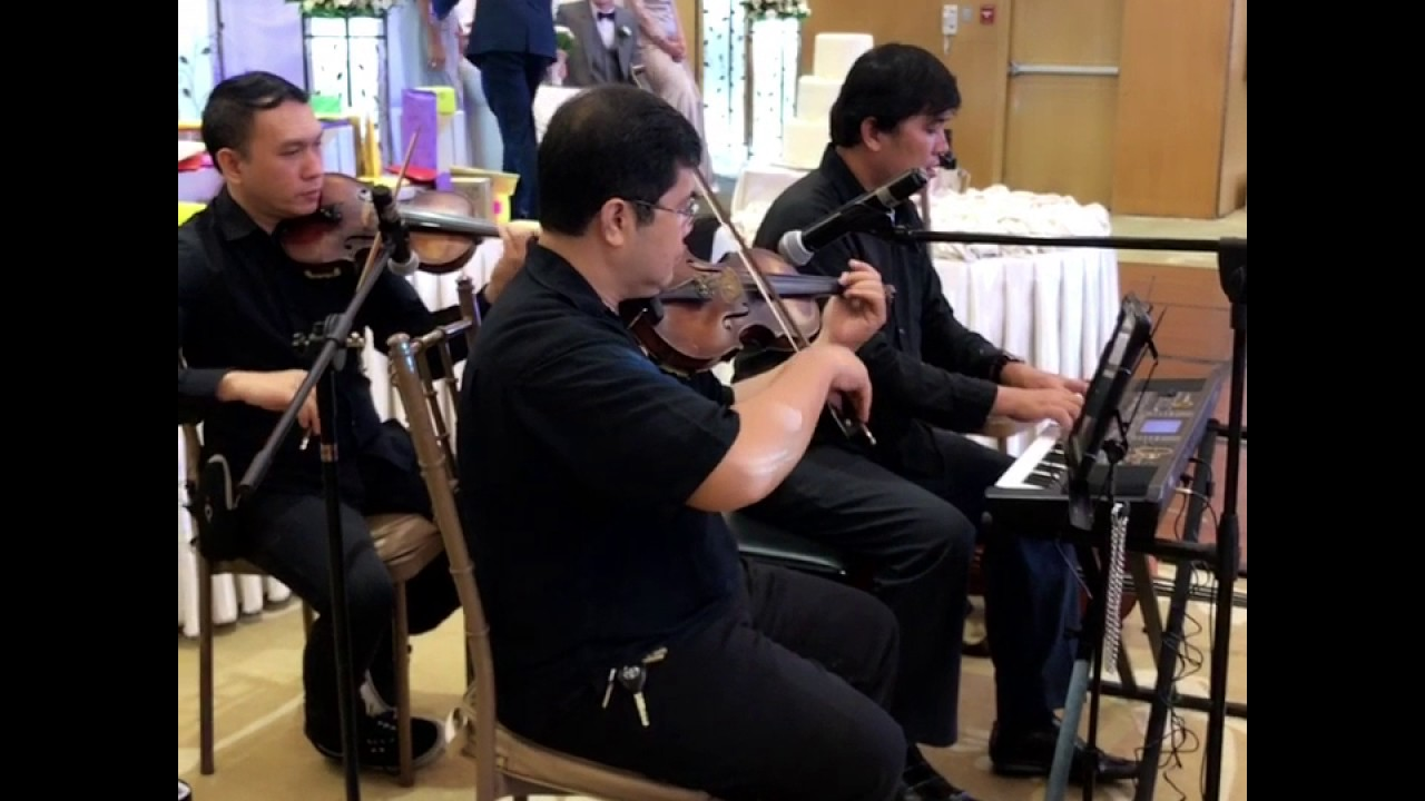 Famous Wedding Song By The Best Strings Trio Quartet Musicians For Hire Manila