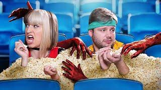 Когда ты один в кинотеатре / 12 смешных ситуаций в кино