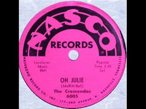 CRESCENDOS   Oh Julie    1957